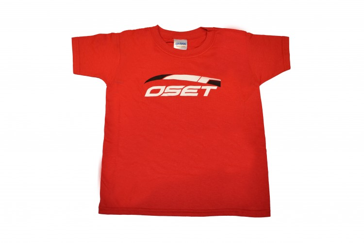 Adult t-shirt with OSET logo - Red